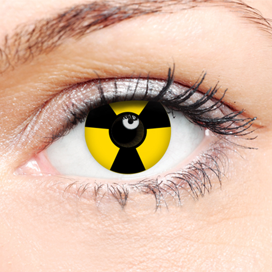 Crazy Halloween Contact Lenses - Radiation