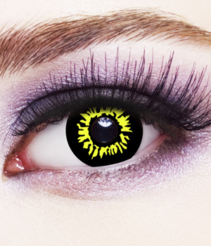 Novelty Contact Lenses - Black Wolf