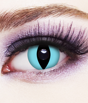 Novelty Contact Lenses - Aqua Cat