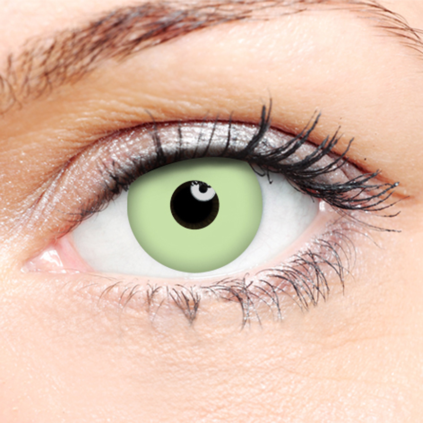 Novelty Contact Lenses - Green Ghoul