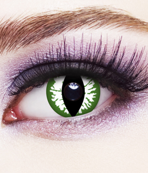 Novelty Contact Lenses - Green Cat