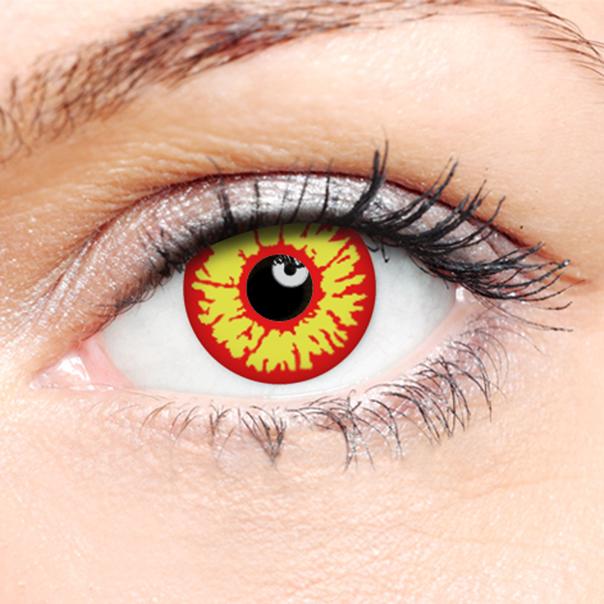 Novelty Contact Lenses - Red Wolf