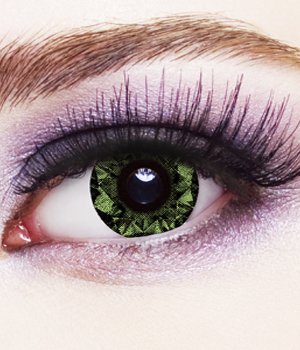 Novelty Contact Lenses - Green Diamond