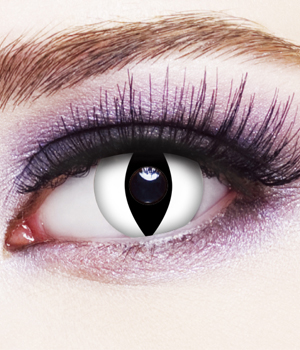 Novelty Contact Lenses - White Cat