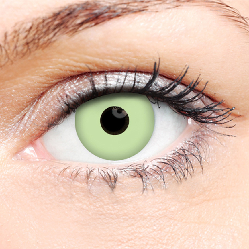 Crazy Halloween Contact Lenses - Green Ghoul