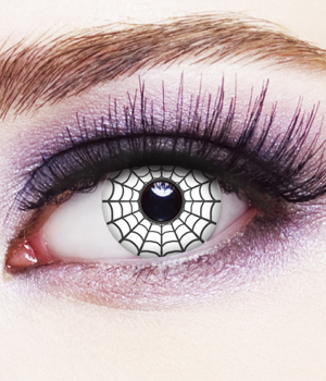Novelty Contact Lenses - Spider Web