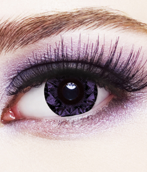 Novelty Contact Lenses - Violet Diamond