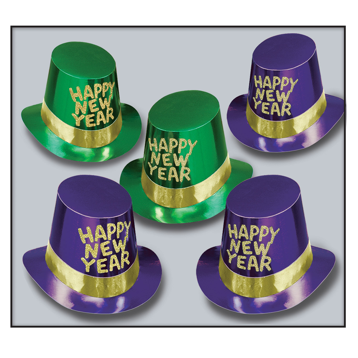 Masquerade Hi-Hats asstd green & purple gold
