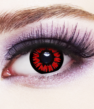 Novelty Contact Lenses - Red Twilight
