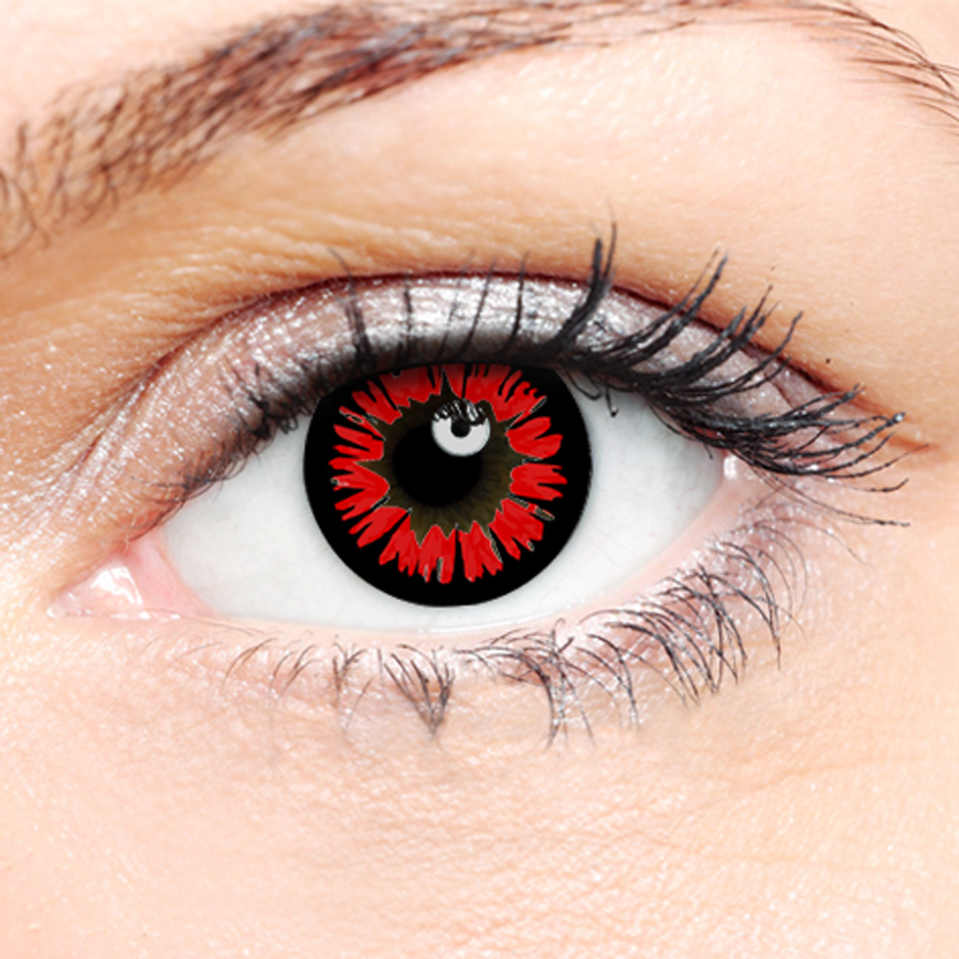 Crazy Halloween Contact Lenses - Red Twilight