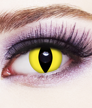 Novelty Contact Lenses - Yellow Cat