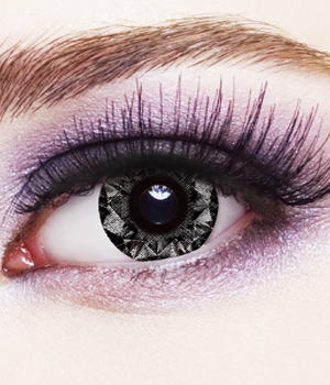 Novelty Contact Lenses - Gray Diamond