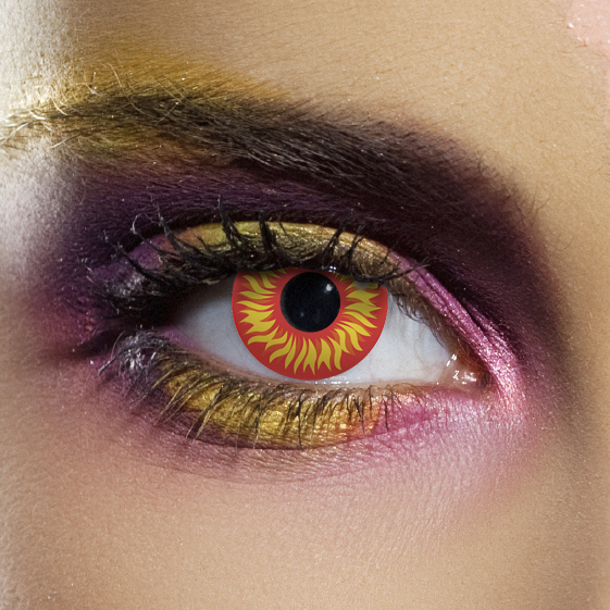 Crazy Halloween Contact Lenses - Red Wolf