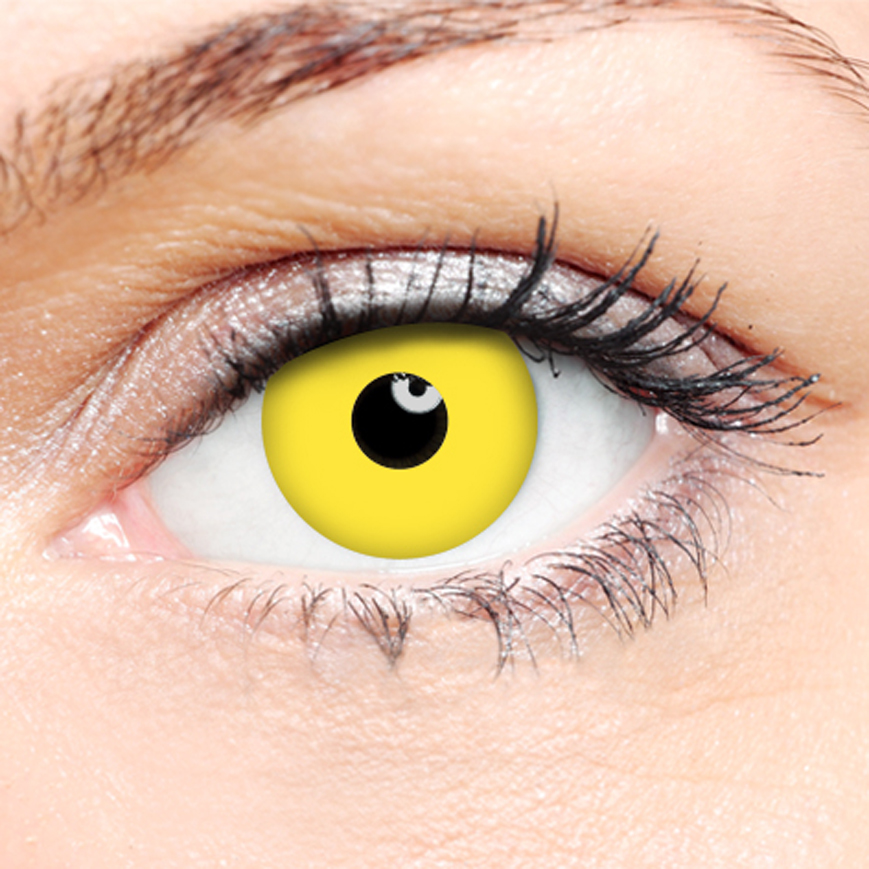 Novelty Contact Lenses - Yellow Zombie