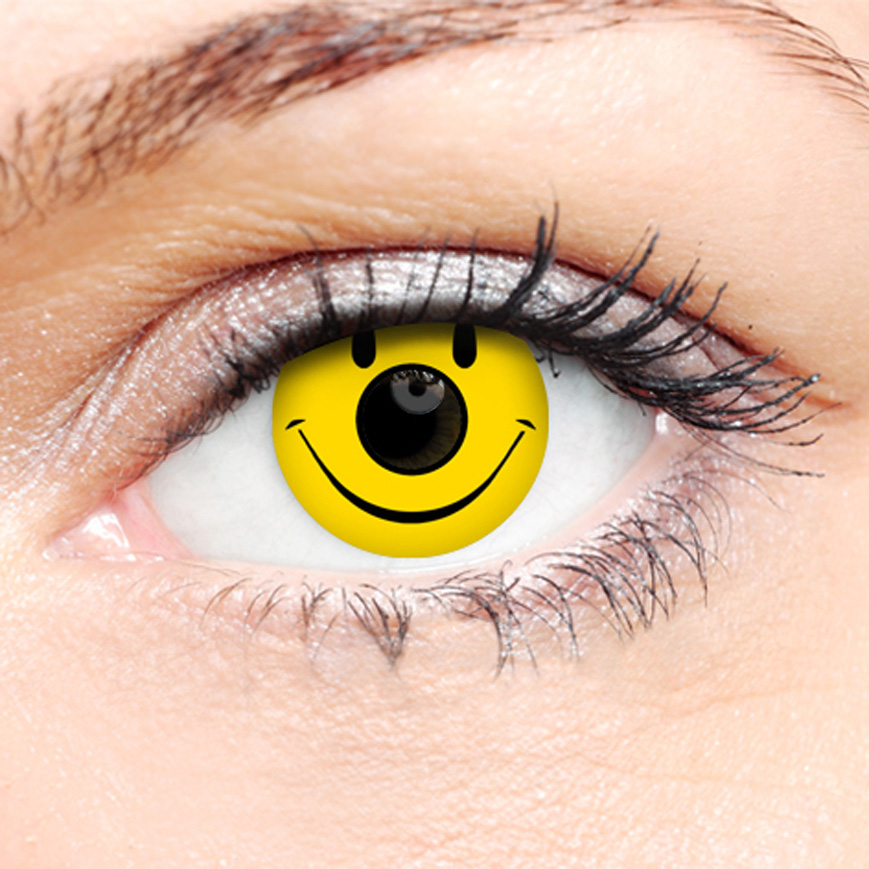Crazy Halloween Contact Lenses - Smiley