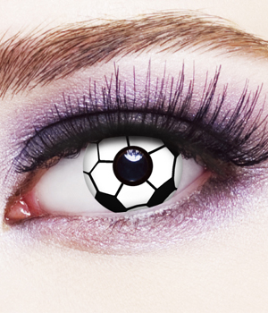 Novelty Contact Lenses - Soccer