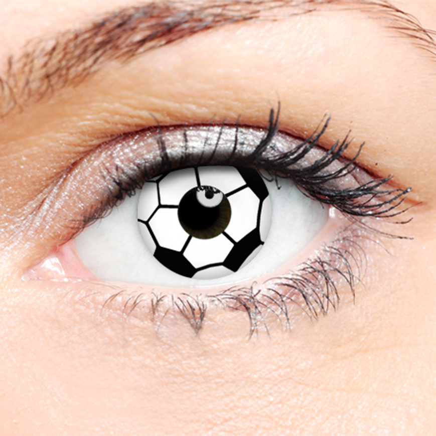 Crazy Halloween Contact Lenses - Soccer