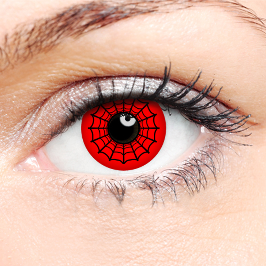 Crazy Halloween Contact Lenses - Spidey