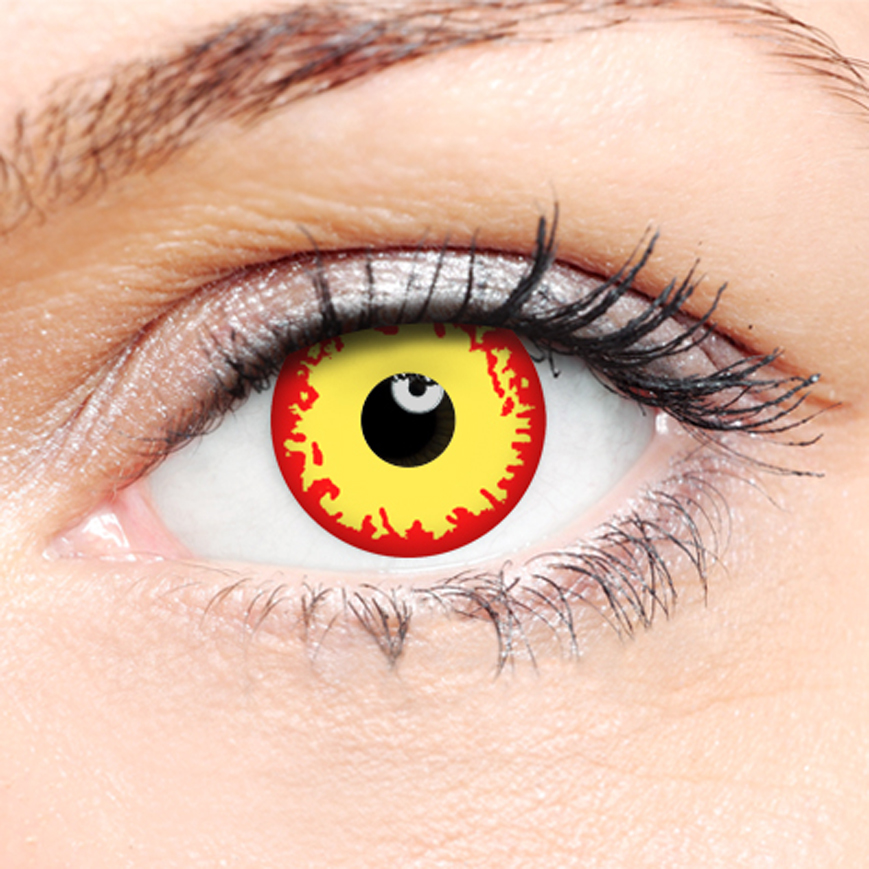 Crazy Halloween Contact Lenses - Fire