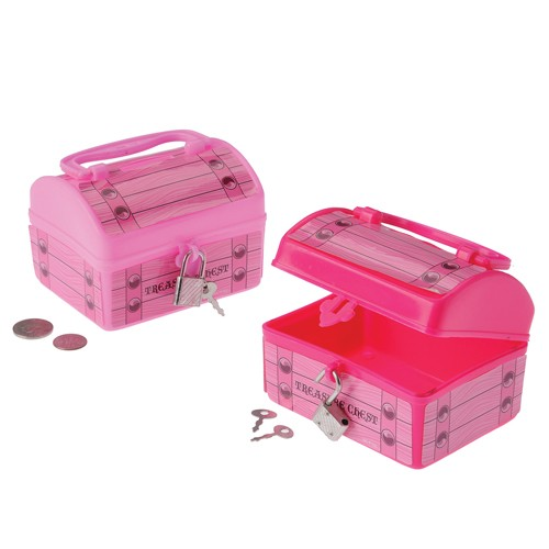 Pink Treasure Chest Savings Banks