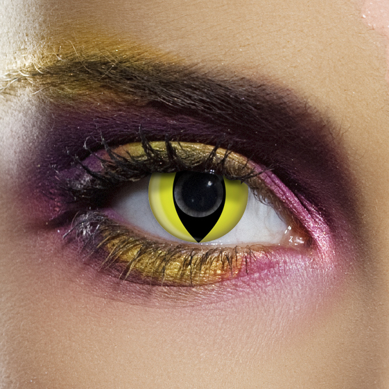 Crazy Halloween Contact Lenses - Yellow Cat