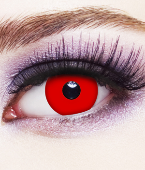 Novelty Contact Lenses - Red Vampire