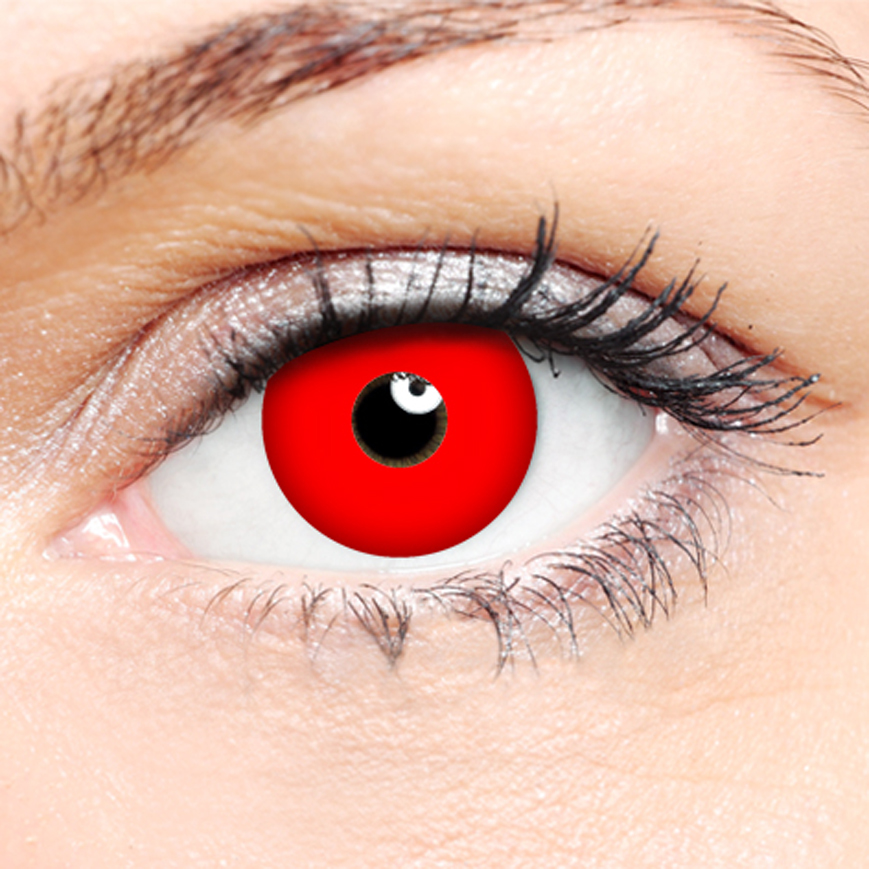 Crazy Halloween Contact Lenses - Red Vampire