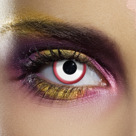 Crazy Halloween Contact Lenses - Saw