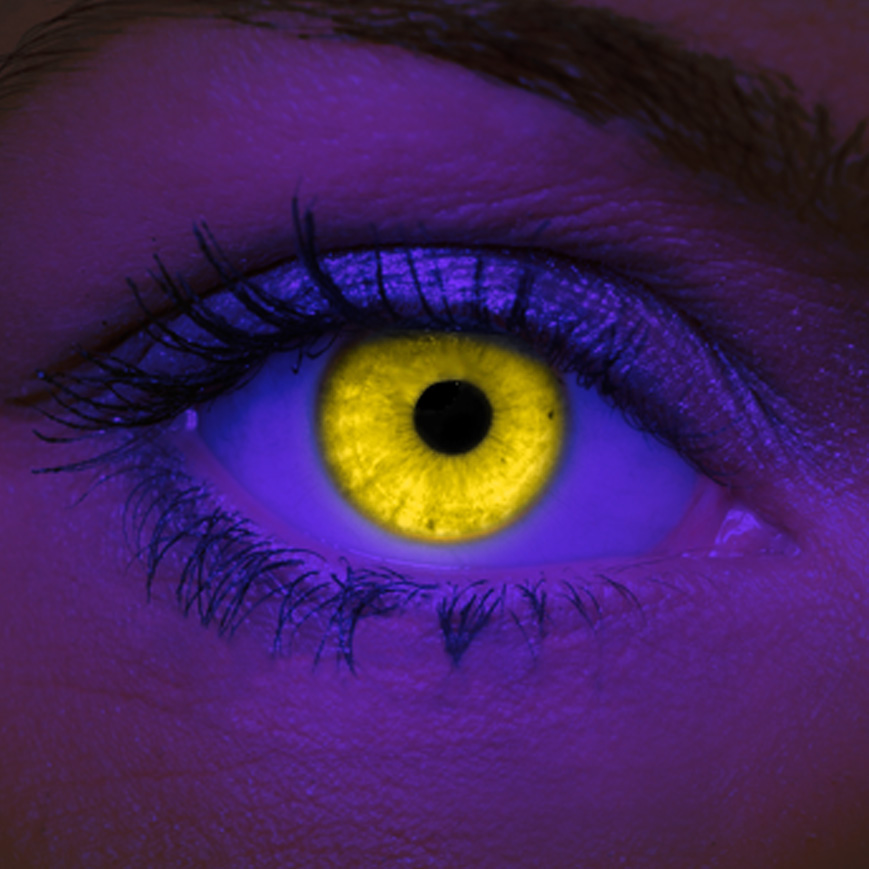 Crazy Halloween Contact Lenses - Yellow UV
