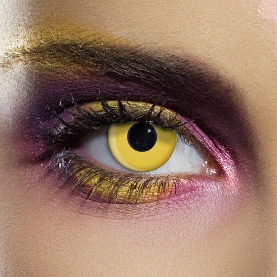 Crazy Halloween Contact Lenses - Yellow Zombie