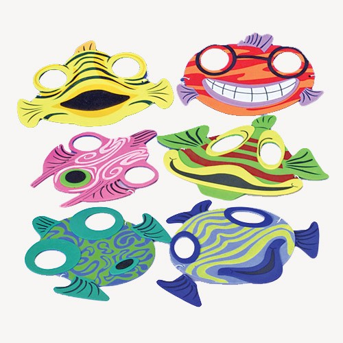 Fish Face Foam Masks