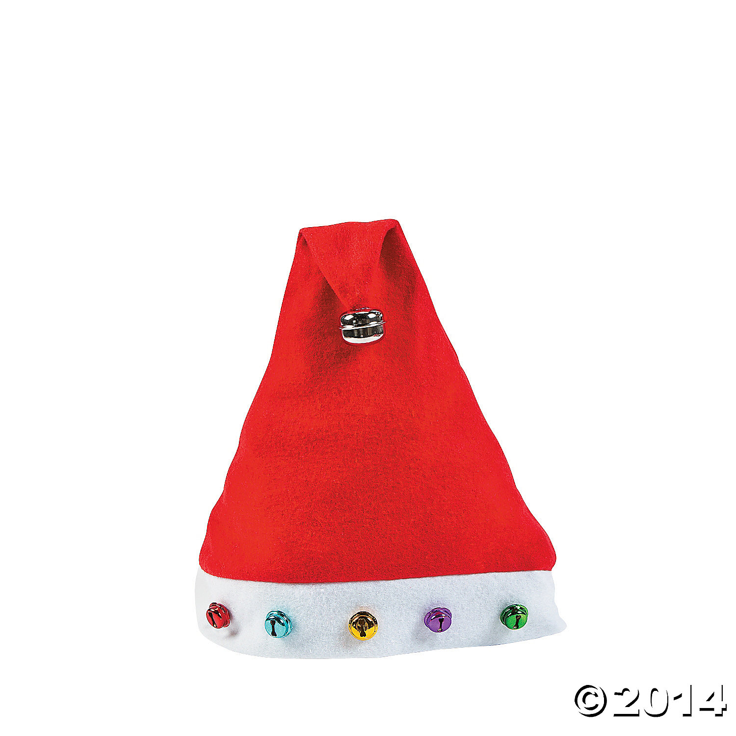 Multicolored Jingle Bell Santa Hat