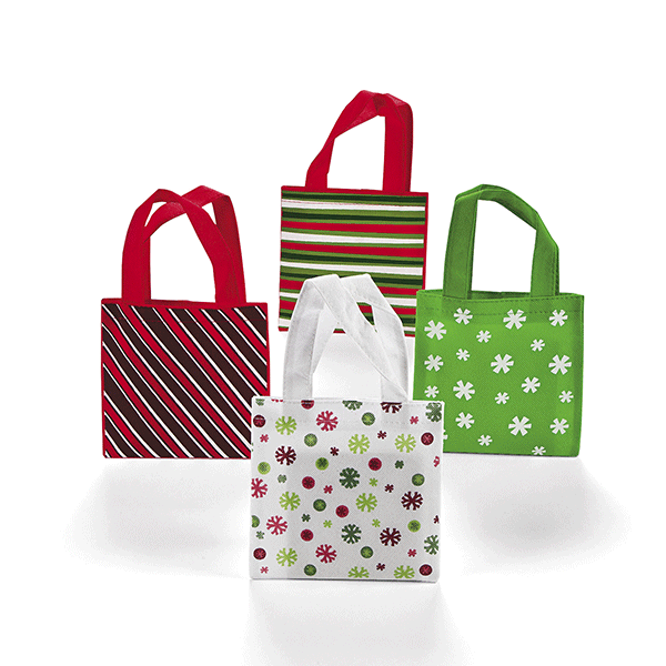 Polyester Large Basic Christmas Totes