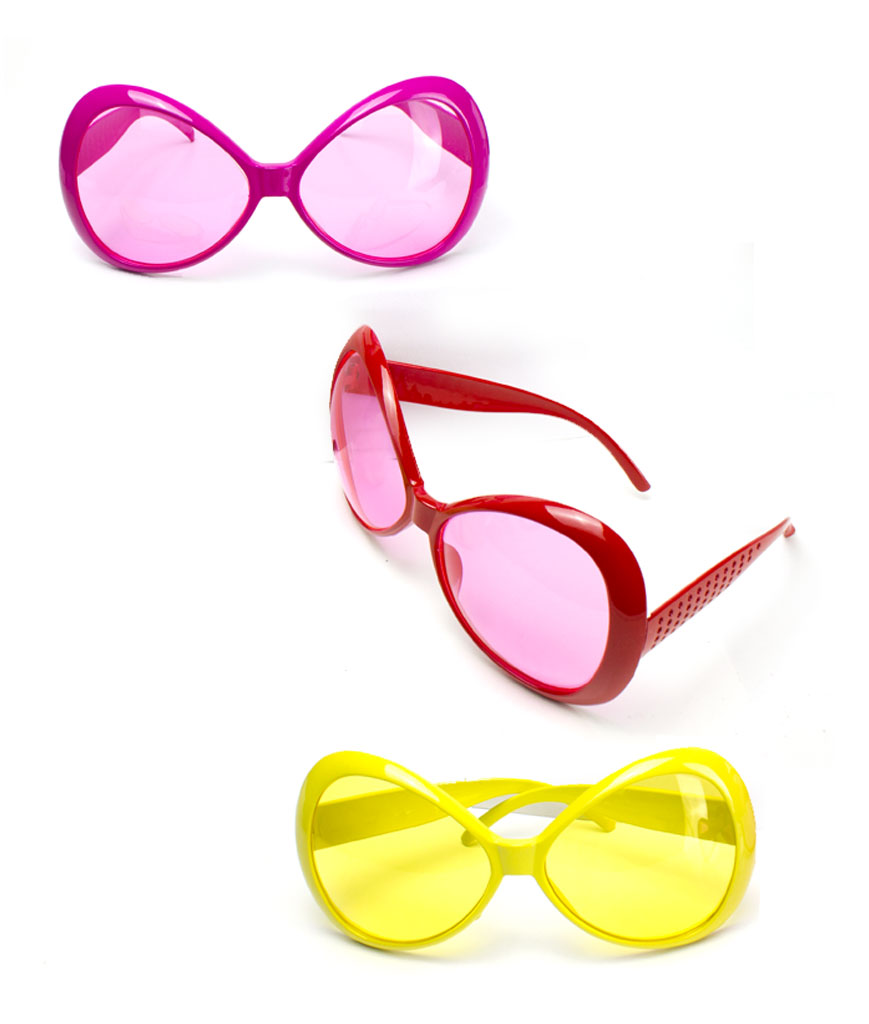 Fun Central AT804 Jumbo Glamorous Sunglasses - Assorted 12ct