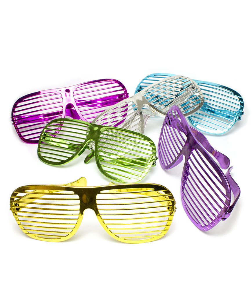 Jumbo Slotted Shades - Assorted 12ct