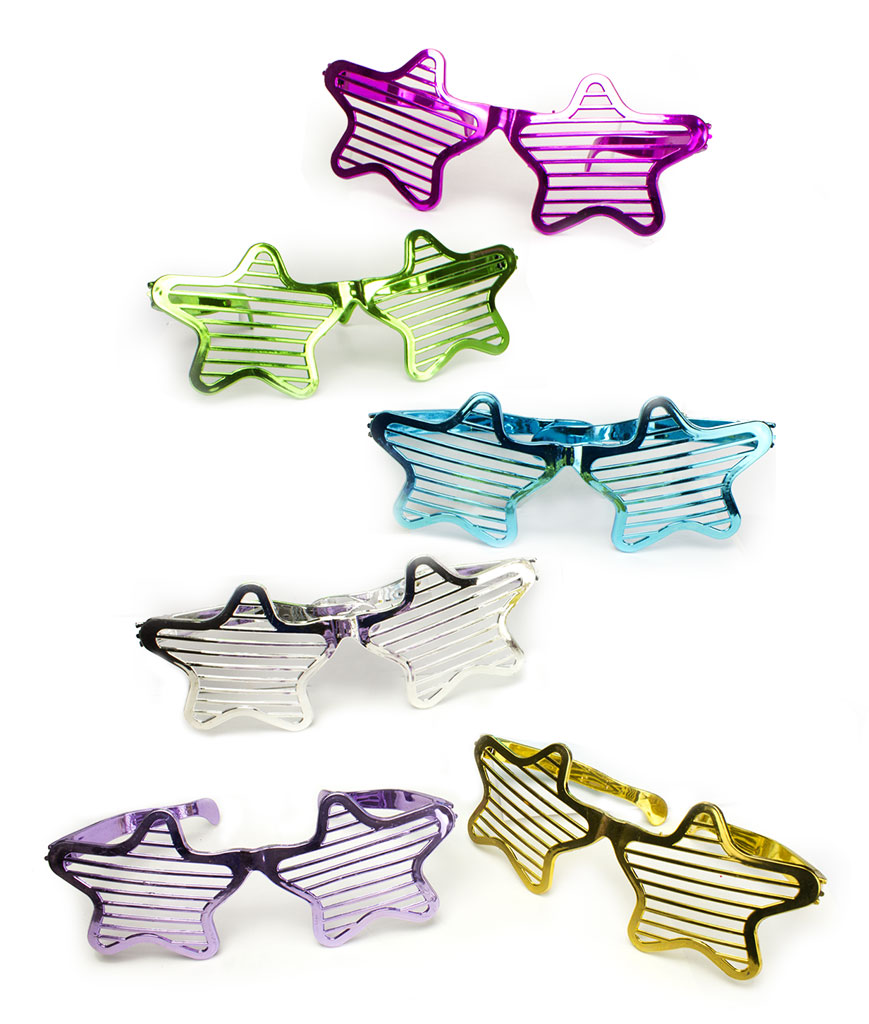Jumbo Star Slotted Shades - Assorted 12ct