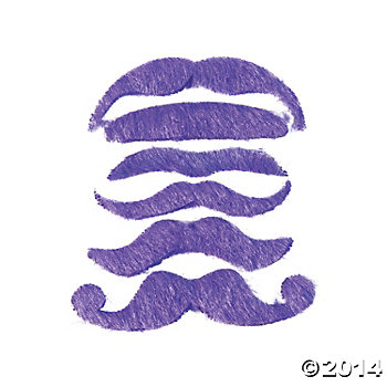 Synthetic Purple Mustache Assortment
