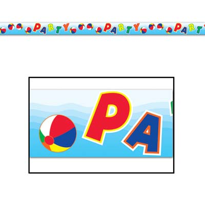 Beach Ball Party Tape 3in x 20ft