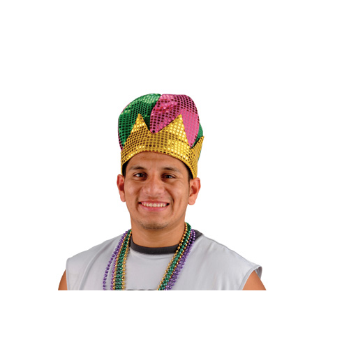 Mardi Gras Sequin Crown Hat
