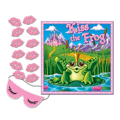 Kiss The Frog Party Game 17 x 19