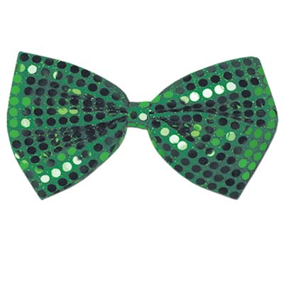 Green Glitz 'N Gleam Bow Tie 4 x 7