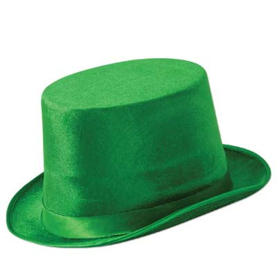 Green Vel-Felt Top Hat