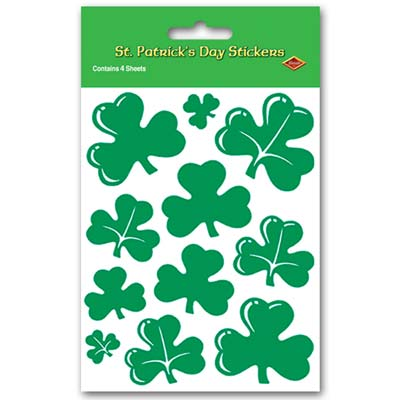 Shamrock Stickers 4 x 7