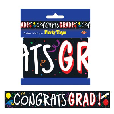 Congrats Grad Party Tape 3in x 20ft