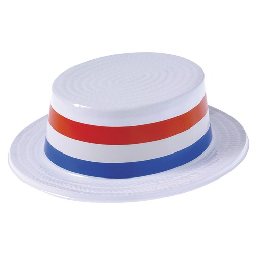 Plastic Patriotic Skimmer Hats - 12ct