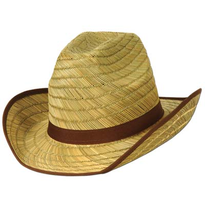 Adult Cowboy Hat wBrown Trim & Band