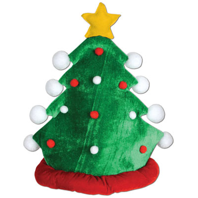 Plush Christmas Tree Hat