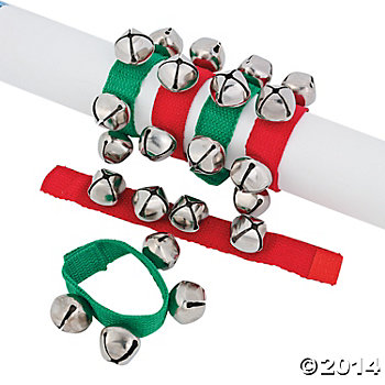 Metal Thick Jingle Bell Bracelets