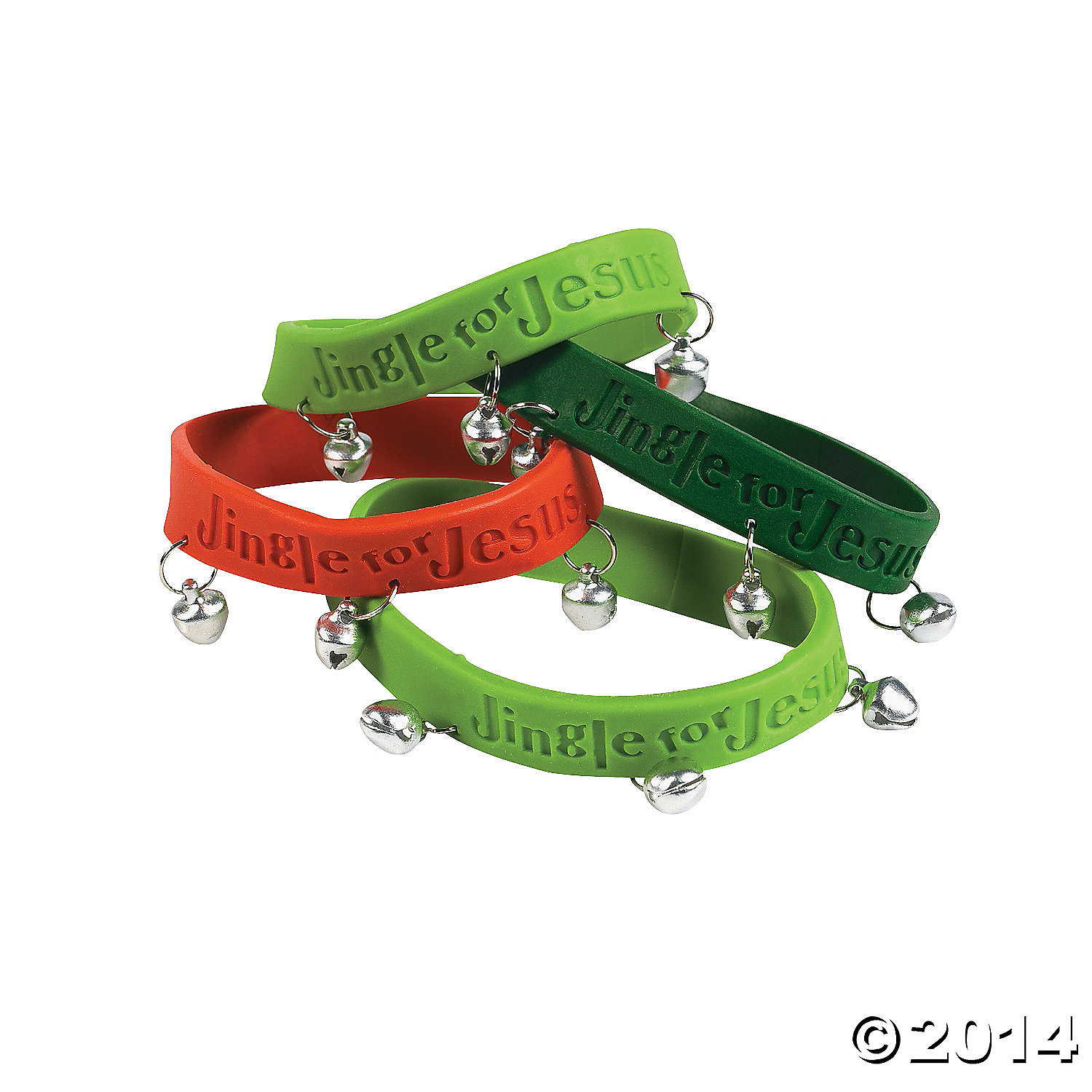 Rubber Jingle For Jesus Bracelets with Bells
