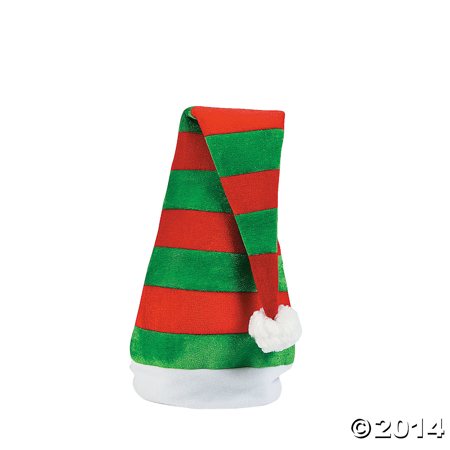 Velous Jumbo Striped Santa Hat